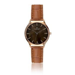 Dámské hodinky s hnědým páskem z pravé kůže Frederic Graff Mullio