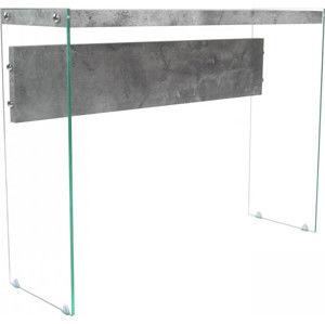 Idea Odkládací stolek sklo/MDF