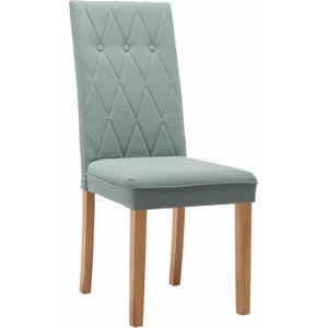 Tempo Kondela Jídelní židle MERIKA - mentolová, látka / dřevo + kupón KONDELA10 na okamžitou slevu 3% (kupón uplatníte v košíku)