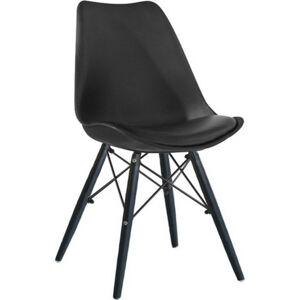 Tempo Kondela Jídelní židle KEMAL NEW - černá / dřevo + kupón KONDELA10 na okamžitou slevu 3% (kupón uplatníte v košíku)