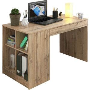 Tempo Kondela PC stůl VENDI - dub Wotan + kupón KONDELA10 na okamžitou slevu 3% (kupón uplatníte v košíku)
