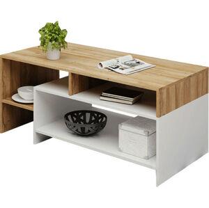 Tempo Kondela Konferenční stolek ALICANTE - dub grandson/bílá + kupón KONDELA10 na okamžitou slevu 3% (kupón uplatníte v košíku)