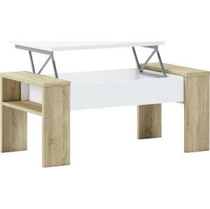 Tempo Kondela Konferenční stolek PULA - dub sonoma/bílá + kupón KONDELA10 na okamžitou slevu 3% (kupón uplatníte v košíku)