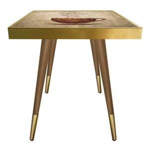 Příruční stolek Caresso Coffee Cup Square, 45 x 45 cm