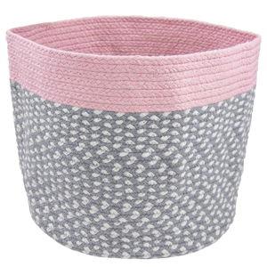 Dětský růžový ručně vyrobený koš Nattiot Brenda