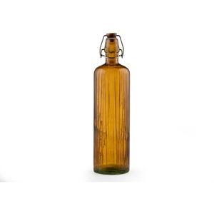 Žlutá láhev na vodu Bitz Basics Amber, 1,2 l