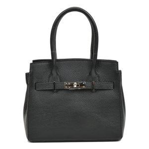 Černá dámská kožená kabelka Sofia Cardoni Neapol