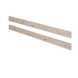 Hnědá bezpečnostní zábrana z borovicového dřeva k posteli Flexa Classic, délka197cm