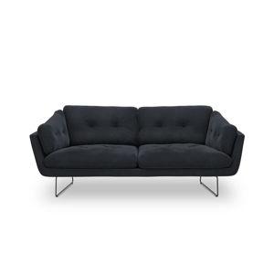 Tmavě modrá třímístná pohovka se sametovým potahem Windsor & Co Sofas Gravity