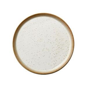 Krémový kameninový mělký talíř Bitz Basics Cream, ⌀ 21 cm