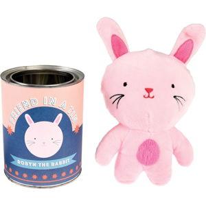 Dětský plyšová hračka králíček Robyn v plechovce Rex London