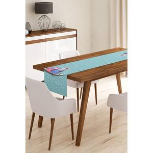 Běhoun na stůl z mikrovlákna Minimalist Cushion Covers Winter Owls, 45x145cm