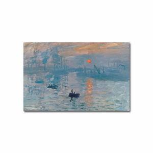 Nástěnná reprodukce na plátně Claude Monet Sunrise, 70 x 45 cm