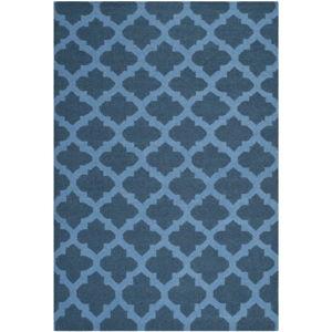 Modrý vlněný koberec Safavieh Salé, 243 x 152cm