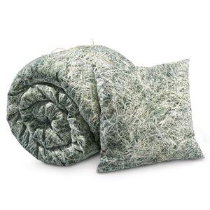 Povlečení s příměsí bavlny na dvoulůžko Foonka Seno, 200x200cm