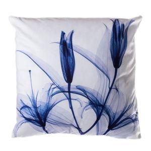 Polštář JAHU Blue Tulip, 45 x 45 cm