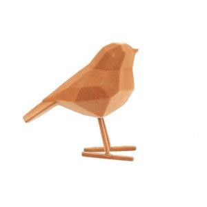 Hnědá dekorativní soška PT LIVING Bird, výška 17 cm