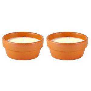 Sada 2 citronelových svícek KJ Collection, ⌀13cm
