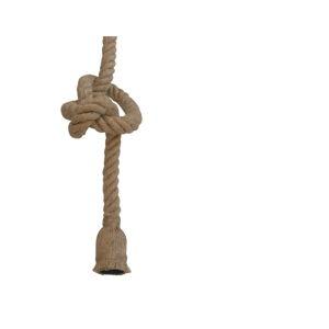 Hnědé závěsné svítidlo SULION Rope