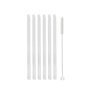 Sada 6 skleněných brček na pití Vialli Design, délka 20cm