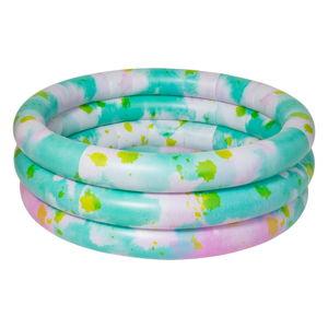Zelenomodrý nafukovací bazén Sunnylife Tie Dye
