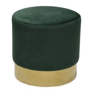 Tmavě zelená taburetka RGE Bling