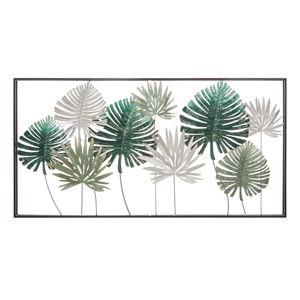 Kovová závěsná dekorace se vzorem palmových listů MauroFerretti Leaf, 134,5x68,5cm