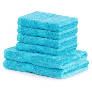 Set 2 tyrkysových osušek a 4 ručníků AmeliaHome Bamby Turquoise