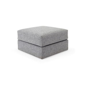Šedá taburetka Innovation Cornila Pouf Twist Granite