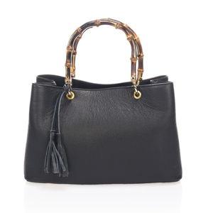 Černá kožená kabelka Markese Nero