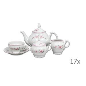 Porcelánová sada na čaj s růžičkami Thun Bernadotte