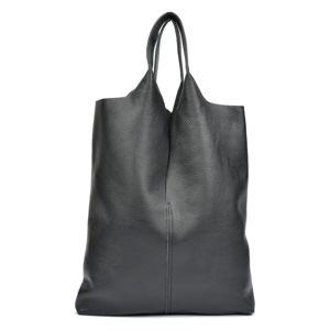 Černá kožená taška na nákup Isabella Rhea