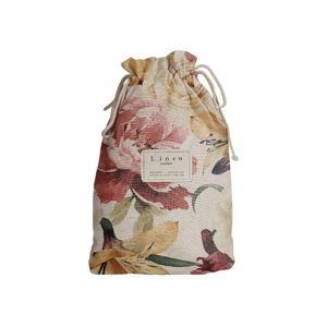 Cestovní vak s příměsí lnu Linen Couture Spring Flowers, délka 44 cm