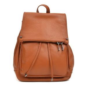 Hnědý kožený batoh Roberta M Aida