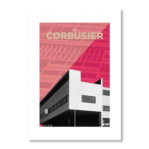 Autorský plakát Corbusier Pink
