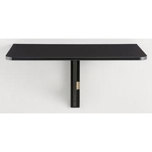 Černý skládací stůl na stěnu Støraa Trento, 41x80cm