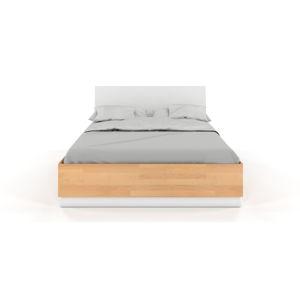 Dvoulůžková postel s úložným prostorem z bukového a borovicového dřeva SKANDICA Finn BC, 160 x 200 cm