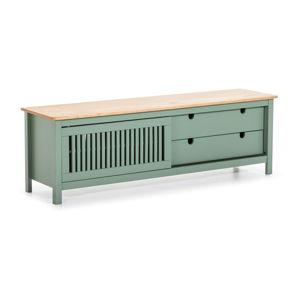Zelený dřevěný TV stolek Marckeric Bruna