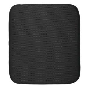 Černá podložka na umyté nádobí iDesign iDry,18x16cm