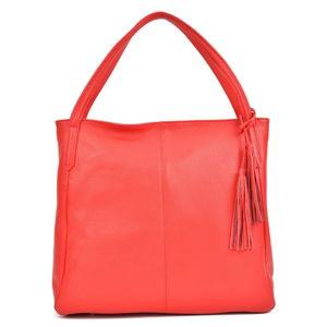 Červená kožená kabelka Sofia Cardoni Caridad