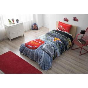 Set přehozu přes postel a povlaku na polštář Disney Cars, 160 x 220 cm