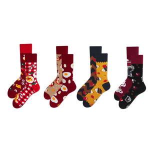 Sada 4 párů ponožek v dárkovém balení Many Mornings Contentment, vel. 43–46