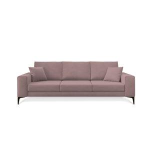 Pudrově růžová třímístná pohovka Cosmopolitan Design Lugano