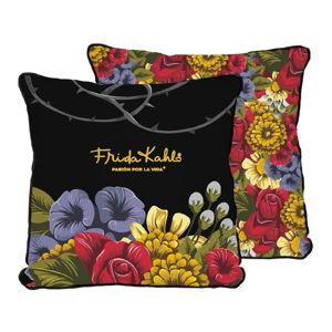 Oboustranný povlak na polštář s příměsí lnu Madre Selva Frida Bunch, 45x45cm