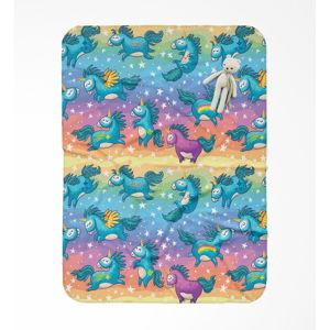 Dětská deka OYO Kids Unicorn Pattern, 120 x 160 cm