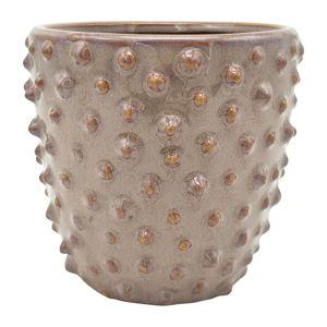 Šedorůžový keramický květináč PT LIVING Spotted, ø 14 cm