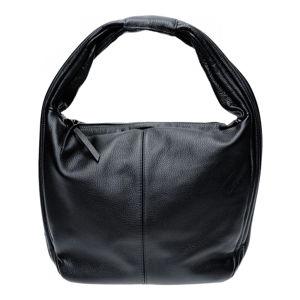 Černá kožená kabelka se 2 kapsami Isabella Rhea