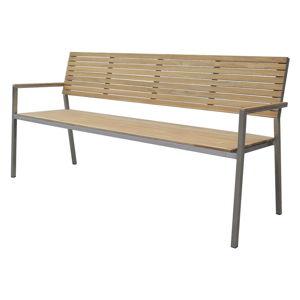 Zahradní 4-místná lavice s ocelovou konstrukcí ADDU Denver