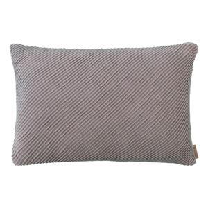 Růžovo-šedý bavlněný povlak na polštář Blomus, 60x40cm