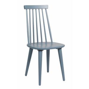 Modro-šedá jídelní židle ze dřeva kaučukovníku Rowico Lotta